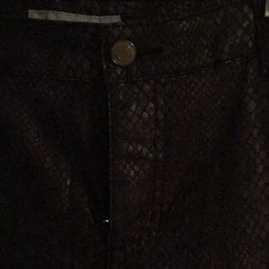 Chico s fake snakeskin denim pants